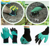 Wholesale Genie Garden Gloves with Fingertips Uniex Claws Quick Easy to Dig and Plant Safe for Rose Pruning Gloves Mittens Digging gloves