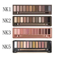 Wholesale eye make up palette - eyeshadow chocolate bar 12color Professional Makeup Palettes Eye Shadow with Make up Brush Case Cosmetic set B741