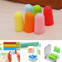 50 Pairs Health Separate boxes Soft Foam Noise Reducer Ear Plugs Travel Sleep Noise Prevention Earplugs Noise Reduction For Travel Sleeping