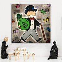 ingrosso belle arti americane-ZZ995 modern art painting Alec Monopoly Pittura a olio americana su tela home decor picture Soggiorno corridoio Fine Art