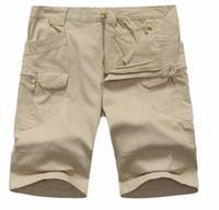 pamuk spandex spor toptan satış-Taktik Kısa IX7 Pantolon% 97% pamuk ve% 3% Spandex Elastik açık Spor Eğitimi Diz Boyu IX7 Pantolon Çok Cepler Savaş Pantolon
