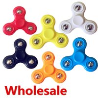 Wholesale Plastic Retail Gift Bags - Hand Spinner 3D Triangle Fidget Focus Anxiety Finger Desk Pocket Toy Gift Kid Adult Relieve Stress With OPP bags