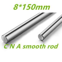 Wholesale Linear Motion Guides - Wholesale- 2pcs 3D printer parts rod 8mm linear shaft L 150mm chromed linear motion guide rail round rod Shaft for cnc parts 8mm 150mm