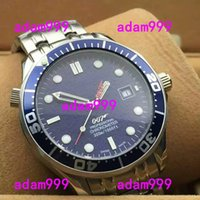 ingrosso orologi di lusso di lusso blu-Marca svizzera James Bond 007 Movie Automatic Mens Luxury Mechanical Watches Fibbia in acciaio inossidabile quadrante blu Data uomo Sport Orologi da polso Vendita
