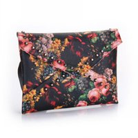 Totes cashmere oil - Fashion Women Punk Trend Rivet Clutch Shoulder Bag Oil Painting Envelope handbag hot L09692