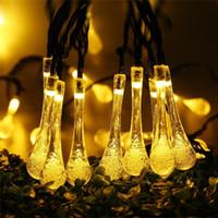 Wholesale energy holidays - Christmas Light 20led LED RGB Solar led strings energy Bubble Rain Ball lamp tube light Xmas Wedding Party Holiday decor lamps LED Light