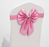 Wholesale Best Chair Sashes Wedding - Elastic Bow Chair Decoration Wedding Party Spandex Sashes for Chair Cover Event Decorative Chair Sashes High Quality Best Price JF-608