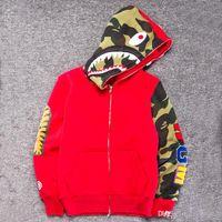 Wholesale Slim Mouth - Mens women Sportwear Coat Jogger Tracksuit Pullover Fleece Sweatshirt Crewneck Bird OVO Drake Black Hip Hop stusay Hoodie Men Shark mouth