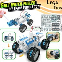 Wholesale Water Powered Toys - Wholesale- Salt water Engine Car Kit fueled DIY space vehicle toy,Bine Power Robot Blocks Science Model kit Educational Toys for children