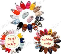Wholesale Barefoot Soles - Pu Leather Baby Strappy Shoes Infant Soft & Rubber Sole Tassel Kids Boys Girls Newborn Toddler Boys Girls Prewalker Barefoot Footwear