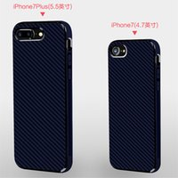 Wholesale Plastic Cloth Covers - For iPhone 7 case cloth pattern tpu business carbon fiber pattern pure soft phone case protective cover for apple iphone 7 7plus 6s 6s plus