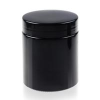 черная колпачковая банка оптовых-REANICE Черная УФ стеклянная банка с черной крышкой для хранения продуктов Airtight Дешево и легко моется