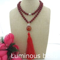 """Wholesale Amethyst Freshwater Pearl Necklace - FC073007 Long 34""""Carnelian Pendant Necklace FC082602 36'' White Freshwater Pearl Fringle CZ Clasp FC073001 Pearl Natural Amethyst Coral CZ"""
