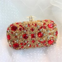 Wholesale-Women Red Black Silver Rhinestone Evening Bags Luxury Vintage Clutch  Diamond Wedding Party Purse Messenger Bag Clutches 384x 67c1a2241ca2