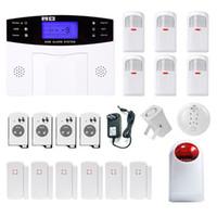 Wholesale Arm Gsm - 2017 Minritech Home Security GSM Alarm System Wireless Wired SMS Burglar Voice Alarm System Remote Control Set Arm Disarm KIT