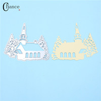 Wholesale Diy House Tools - Cartoon Castle House Metal Crafts Cutting Dies Stencils Photo Album Embossing DIY Paper Cards DIY Scrapbooking Decor Craft