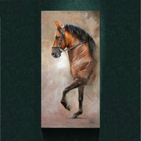 Wholesale Wall Decor Art Canvas Horses - Modern Salute the Horse painting picture abstract art print on the canvas,animal canvas poster painting prints,wall Home decor poster