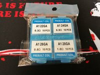 Wholesale kit gauge - 4 In 1 Prebuilt Coil Box Kit A1 Premade Wrap Heating Wires Pre-built KanthalA1 Wire 22g 24g 26g 28g Gauge 40pcs box DHL