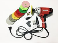 Wholesale electric wet stone polisher hand grinder water mill variable speed with units wet polishing pad v v W inch