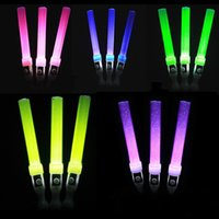 Wholesale Decorative Rods - Fluorescent Light Sticks LED Flashing Multi Color Wand Magic Kids Toy For Concert Party Glow Rod Cheer Props 2 3hc F
