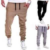 Wholesale Casual Baggy Trousers Men - Wholesale-Men's Fashion Casual Elastic Drawstring Pants Baggy Sweatpants Harem Trousers