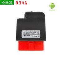 Wholesale Audi Bluetooth Module - 30pcs lot DHL free shipping for V-checker iOBD B341 Bluetooth OBD Module for Android mobile support the OBD standard vehicles