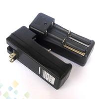 baterias de íon de lítio livres venda por atacado-18350 18650 Li-ion Battery UE EUA Carregador Universal Dual Slots Carregador de baterias de íon de lítio Recarregável Fit E Cig DHL Livre