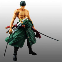 Wholesale Toy Pirates Hat - New Arrival One Piece Roronoa Zoro The Straw Hat Pirates Action Figures PVC Anime Toys Japanese Cartoon Doll Toys 19cm