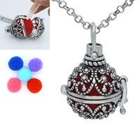 Wholesale Brass Box Chain - Antique Silver Aromatherapy Jewelry Butterfly Hollow Magic Box Locket Pendant Essential Oil Diffuser Necklace With 5 colors Cotton Balls