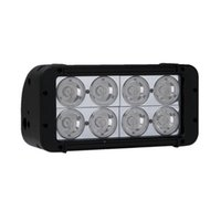 "Wholesale Led Atv Flood Light - 8"" 80W CREE 8-LED*(10W) Work Light Bar Off-Road SUV ATV 4WD 4x4 Spot   Flood Beam 6400lm IP67 9-30V High Power Massive Bright 2 Row Aluminum"