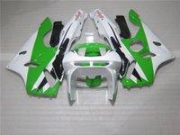 1996 kawasaki ninja zx6r großhandel-Kostenlose 7 Geschenke Verkleidung Kit für Kawasaki Ninja ZX6R 1994-1997 grün weiß Motorrad Verkleidungen Set zx6r 94 95 96 97 OT17