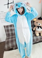Wholesale Elephant Adult Pajamas - Wholesale- Lovely Elephant Pajamas Pyjamas Adult Children Onesie Animal Sleepsuit For Unisex