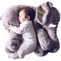 Wholesale Large Doll Babies - Large Elephant Soft Appease Toys Stuffed Baby Pillow 60CM Kids Sleep Cushion Bedding Infant Toddler Plush Dolls Animal Elephant Pillow Gifts