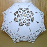 Wholesale Small Parasol Umbrellas - New Small Bridal Accessories Wedding Lace Parasol White Lace Umbrella Accessory Bridal Party Decoration Children Photo Props