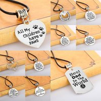 Wholesale Initial Silver Letters - 12Pcs Mixes Color Silver Pendant Necklace Letters Initials Alloy Pendant Necklaces 2017 Christmas Jewelry In Stock