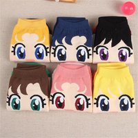 Wholesale Girl Pair Costumes - Wholesale- 1 Pair Comfortable 6 Color Cotton Anime Costume Clothing Pattern Ankle Socks Low Cut Spring Autumn Fashion Woman Girl Boat Sock