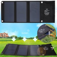 Wholesale Solar Battery Charger Bag - 5V 20W 2 MIC Ports Solar Panel Battery Charger Travel Camping Folding Sun Power Solar Panel Charger For Cellphone Hanging On Bag