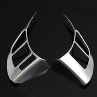 Wholesale Mazda Wheel Trims - 2pcs Chrome Steering Wheel Panel Cover Badge Insert Trims For MAZDA CX-5 6