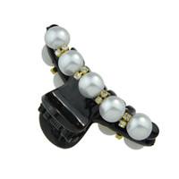 New Style Hairwear Black Cor Coroa Simulated-pearl Hair Claws Hair Jewelry para Lady Girl Hair Accessories