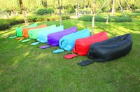 Wholesale Fast Inflatable Camping Sofa Banana Sleeping Lazy Chair Bag Nylon Hangout Air Beach Bed Couch Lay Outdoor Sleep Fast Filling