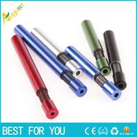 frühlingstyp farben großhandel-Sharpstone Multi Farben Frühling Mund Metall Pfeife 82mm Aluminiumlegierung Rohr GT7006