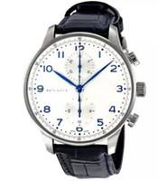 relógio automático português venda por atacado-Venda Por Atacado Marca Hot Men Watch Português Cronógrafo Automático Mens Watch 371446 Relógios De Pulso