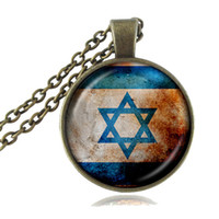 Wholesale African Jewellery Wholesalers - Hexagram Jewish Necklace Magen Star of David Pendant Shema Hebrew and Israel Flag Jewelry Religious Jewellery for Women Girls Accessory