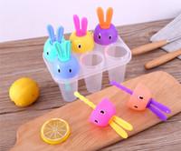 Wholesale Umbrella Machines - Wholesale 5 Pieces Ice Cream Tools Frozen Pop Umbrella & Rabbit Mould Mold 6 DIY Ice Machine