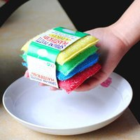Wholesale Scrub Sponge Pad - Scouring Pad Clean Cloth Wipe Wash Cookware Towel Scrub Sponge Pot Cooker Colorful Cleaning Brush Household Tool 0 16rr F