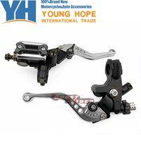 """Wholesale Motorbike Levers - CNC Universal Black 7 8""""(22mm) Motorbike Brake Clutch Master Cylinder Levers Kit Fit fits for Yamaha YZF R6 2005-2014"""