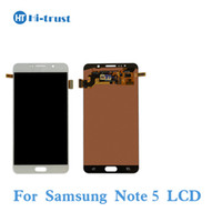 Wholesale Galaxy Note Screen Assembly - For Samsung Galaxy Note5 N920A N9200 SM-N920 N920C AMOLED LCD Screen Display Touch Screen Digitizer Assembly Replacement Parts Free Shipping