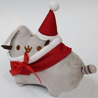 Wholesale Kid Lovely Smile - 23CM & 30CM Christmas Cosplay Father Christmas Cartoon Pusheen & Eevee Plush Toys Lovely Animal Smile Cat Plush Doll Kids Gift -D023