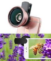 Wholesale Super Wide Lens Clip - Universal Mobile Phone HD 2 in 1 Camera Lens Kit,0.6X Super Wide Angle Lens + 15X Macro Lens,Clip-On Cell Phone Lens for Smartphone