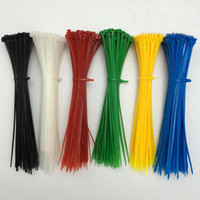 Wholesale 100pcs SGS Color mm Nylon PA66 Self Locking Cable Ties Fire Rating V Anti corrosion Acid Insulation Strong Endurance Grafting